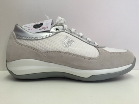 SCARPE SNEAKERS DONNA SWISSIES BRUGES II 4067238 238 SILVER WHITE PELLE SHOES