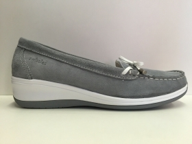 SCARPE MOCASSINI DONNA SWISSIES LINDA 4073302 271 LIGHT GREY PELLE ZEPPA