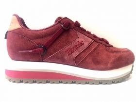 SCARPE SNEAKERS DONNA ETONIC NEW YORKK BORDEAUX PELLE ORIGINALE AI NEW