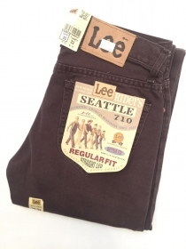 PANTALONE JEANS PANTALONI UOMO LEE SEATTLE 710 1617 COTONE ORIGINAL AI NEW