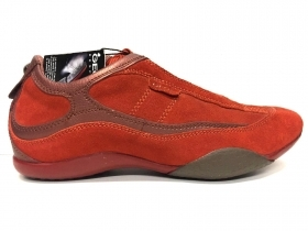 SCARPE CASUAL SNEAKERS DONNA GEOX HOTA D5317A ORANGE PELLE ORIGINALE AI NEW