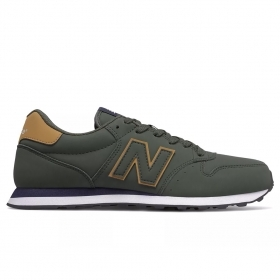SCARPE SNEAKERS NEW BALANCE UOMO 500 GM500WBD VERDE ECO PELLE AI 2020 NEW