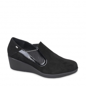 SCARPE CASUAL DONNA VALLEVERDE V17361 PELLE NERO ORIGINALE AI 2020 NEW