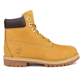 SCARPE SCARPONI JUNIOR TIMBERLAND 6 IN PREMIUM 12909 PELLE WHEAT ORIGINAL AI NEW