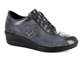 SCARPE SNEAKERS CASUAL DONNA IMAC 117288 42650 4211 018 ANTHRACITE GREY PELLE AI