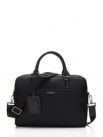 BORSA CARTELLA UOMO GUESS HM2215POL64 PORTA PC ECO PELLE NERO ORIGINALE AI NEW