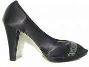SCARPE DECOLTE SANDALO DONNA KEYS 5511 RASO NERO ORIGINALE PE NEW