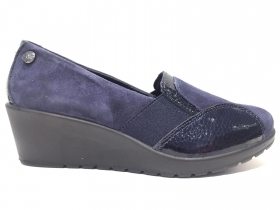 SCARPE CASUAL SLIP ON DONNA ENVAL SOFT 4264122 PELLE BLU ORIGINALE AI 2020 NEW
