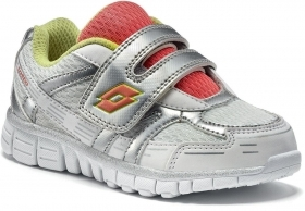 SCARPE SNEAKERS BAMBINA LOTTO R0691 ZENITH ECO PELLE BIANCO ORIGINALE PE NEW