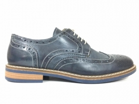 SCARPE DERBY CASUAL INGLESE UOMO BLACKSIDE 2815 F02 PELLE BLU ORIGINALE PE NEW