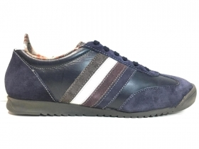 SCARPE SNEAKERS CASUAL UOMO MARC HERO EDWARD PELLE BLU ORIGINALE AI NEW