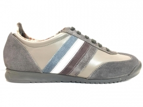 SCARPE SNEAKERS CASUAL UOMO MARC HERO EDWARD PELLE GRIGIO ORIGINALE AI NEW