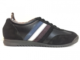 SCARPE SNEAKERS CASUAL UOMO MARC HERO EDWARD PELLE NERO ORIGINALE AI NEW
