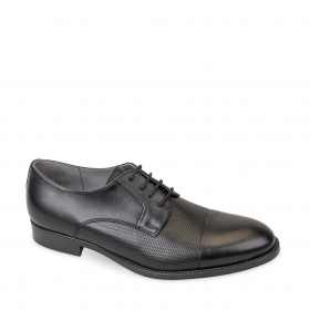 SCARPE CASUAL DERBY UOMO VALLEVERDE 46806 PELLE NERO ORIGINALE PE 2020 NEW