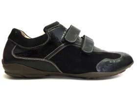 SCARPE SNEAKERS CASUAL UOMO LION DERBY 5472 PELLE NERO ORIGINALE NEW