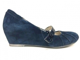 SCARPE CASUAL SANDALO DONNA FREEMOOD 39883124 PELLE ORIGINALE BLU PE NEW