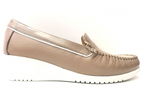 SCARPE CASUAL DONNA SINTONIE BY FLORANCE AS2009 PELLE TAUPE ORIGINALE PE 2020