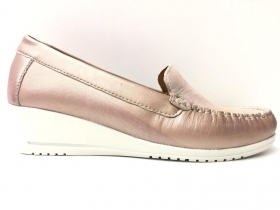 SCARPE CASUAL DONNA SINTONIE BY FLORANCE AS2009 PELLE BEIGE ORIGINALE PE 2020