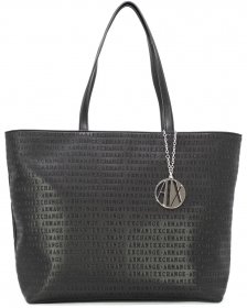 BORSA BORSE DONNA ARMANI EXCHANGE 942426 CC714 ECO PELLE NERO ORIGINALE AI NEW