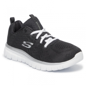 SCARPE SNEAKERS DONNA SKECHERS GEL CONNECTED 12615 NERO ORIGINALE PE 2020 NEW