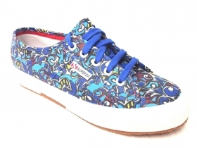 SCARPE SNEAKERS DONNA SUPERGA 2750 FANTASY COTU S001W00 C63 ORIGINALE PE NEW
