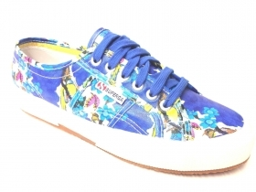 SCARPE SNEAKERS DONNA SUPERGA 2750 FANTASY COTU S001W00 C55 ORIGINALE PE NEW