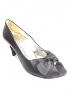 SCARPE DECOLTE TACCO DONNA CRIS SHOES C011 PELLE NERO ORIGINALE PE NEW