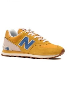 SCARPE SNEAKERS UOMO NEW BALANCE ML574SCB CLASSICS PELLE 774991 PE 2020 NEW