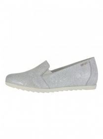SCARPE CASUAL SLIP ON MOCASSINO DONNA ENVAL SOFT 79181 PELLE ARGENTO ORIGINAL PE