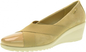 SCARPE CASUAL SLIP ON MOCASSINO DONNA ENVAL SOFT 79403 PELLE BEIGE ORIGINALE PE
