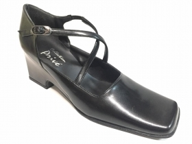 SCARPE SANDALI SANDALO DONNA COLLECTION PRIVE 412 PELLE NERO ORIGINALE PE NEW