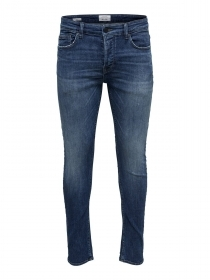 PANTALONE JEANS UOMO ONLY E SONS LOW D WASH 22012044 BLU ORIGINALE PE