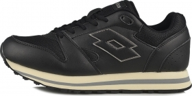 SCARPE SNEAKERS CASUAL UOMO LOTTO TRAINER VII S2020 NERO PELLE AI ORIGINALE