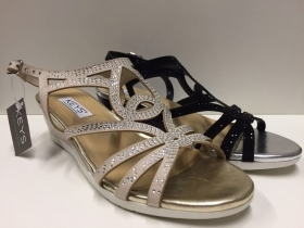 SCARPE ZEPPA SANDALO SANDALI DONNA KEYS ORIGINALE 5436 PELLE SHOES NEW