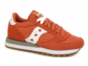 SCARPE SNEAKERS DONNA SAUCONY ORIGINAL JAZZ S1044 441 RED PELLE SHOES PE