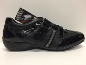 SCARPE CASUAL DONNA GEOX ORIGINALI SALLY D9367B BLACK PELLE SHOES LEATHER RIALZO