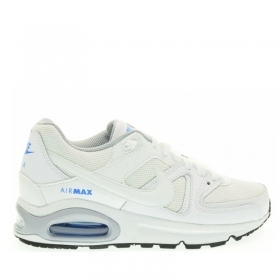 SCARPE NIKE ORIGINALI AIR MAX COMMAND 407759 BIANCO PELLE SHOES UNISEX SCARPETTE