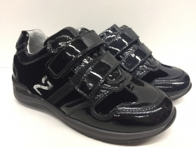 SCARPE BIMBA NERO GIARDINI JUNIOR ORIGINALE A226771 PELLE VERNICE SHOES LEATHER
