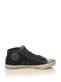 SCARPE SNEAKERS DONNA UOMO CONVERSE ALL STAR CT CLEAN 127390C BLU PELLE A/I