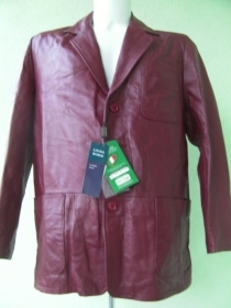 GIACCA UOMO LIVING WORLD ORIGINALE S ROSSO PELLE NAPPA JACKET LEATHER MAN NUOVO