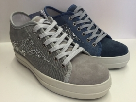 SCARPE SNEAKERS DONNA IMAC ORIGINAL 123244 TELA STRASSES PELLE LEATHER SHOES NEW