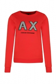 MAGLIA FELPA DONNA AX ARMANI EXCHANGE ORIGINALE 3GYM90 YJZ6Z COTONE P/E 2019 NEW