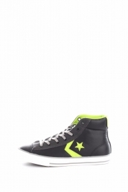 SCARPE SNEAKERS DONNA UOMO CONVERSE ALL STAR 655168C JUNIOR NERO PELLE A/I