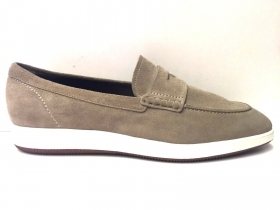 SCARPE MOCASSINO CASUAL UOMO HOGAN ORIGINALE H217 ROUTE DERBY PELLE P/E NEW
