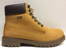 SCARPE SCARPONE CASUAL UOMO LUMBERJACK RIVER SM00101 YELLOW DARK BROWN PELLE AI
