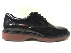 SCARPE CASUAL UOMO HOGAN H217 ROUTE DERBY 06R NERO PELLE SHOES AI NEW ORIGINALE