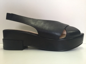 SCARPE CASUAL ZEPPA CIABATTA DONNA YOSH ORIGINAL YSE5900 PELLE NERO SHOES NEW