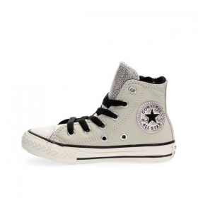 SCARPE SNEAKERS DONNA CONVERSE ALL STAR CT AS SIDE 655161C BUFF SILVER PELLE