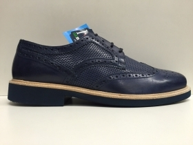 SCARPE UOMO SOLDINI ORIGINALI 19761 BLU PELLE LEATHER SOTTOPIEDE CUOIO SHOES NEW