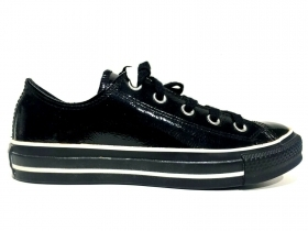 SCARPE SNEAKERS DONNA CONVERSE ORIGINALE CT LEATHER OX 106677 PELLE NUOVO